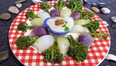 Recette Oignons et brocolis à la vapeur