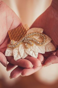 Bridal & Bridal Party Hair Comb - Vintage Crystal Head Piece