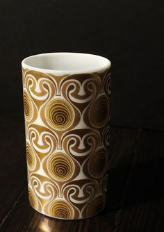 Rosenthal Bjorn Glass Ceramic, Ceramic Art, Gold Palette, Gold Rush, Home And Deco, Vintage Textiles, Op Art, China Porcelain, Colors