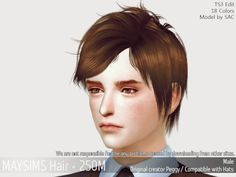 Office Worker male hair for The Sims 4