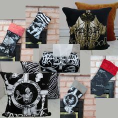 Marduk CLEARANCE LOT Pillow Casees, Christmas Stockings, Coasters - Black Metal Decor by DarkStormDesign on Etsy