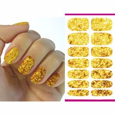 2016 Fashion Nail Art Stickers Gold Bright Bling Water Transfer Nail Sticker Minx Manicure Decoration Metal Foil Decals