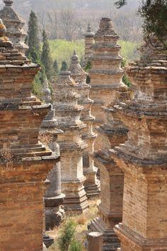 stupas at the Shaolin Monastery
