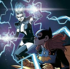 Batgirl and Livewire Female Villains, Comic Villains, Best Villains, Evil Villains, Comics Girls, Dc Comics, Cosmic Comics, Comic Books Art, Comic Art