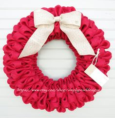 Burlap Wreath Christmas Burlap Wreath Year by simplypearldesigns