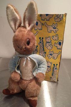 "Vintage Eden Toys Plush Peter Rabbit 16"" With Box #Eden"