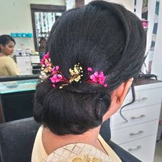 330d9d6bfa3 Hair · Happy Customers at Cocolips salon @cocolips_beauty, simply elegant  bun and 🌸 flower decoration we