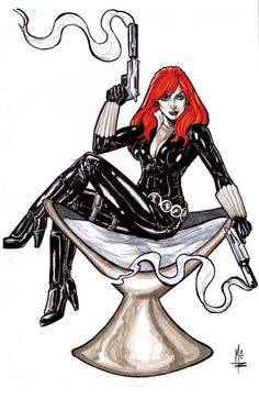 Black Widow by montrosity.deviantart.com on @deviantART