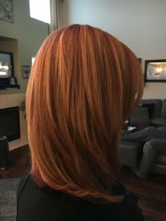 Copper with blonde highlights