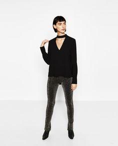 Image 1 of NECKLINE TOP WHITE STRAP from Zara