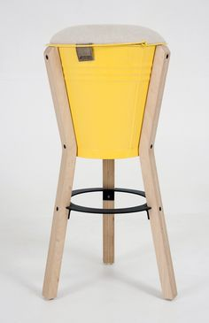 Bucket barstool by Pederson + Lennard