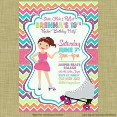 Invitation rollers birtday