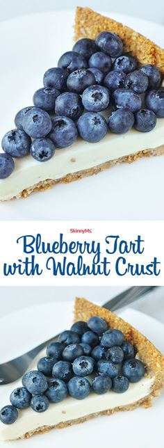 Our Blueberry Tart with Walnut Crust won�t derail your healthy eating! It's soooo good! :)