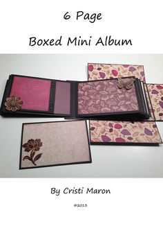 6 Page Boxed Mini Album with Video Tutorials