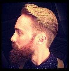 Great men's hair and beard.