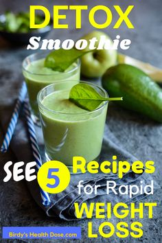 It's important to give our body a break now and then, helping him eliminate toxins and unwanted residues that prevent us from having a healthy life, thus giving him a chance for regeneration, better digestion, and much more, a lot of energy. Here are Top 5 detox smoothie recipes who helps detoxifying our body, and also help us  to lose weight