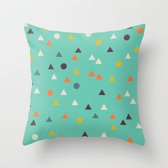 Shapes & Shapes 03 Throw Pillow by Francescerous