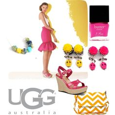 """Start Spring Bright with UGG"" by glamasaurus on Polyvore"