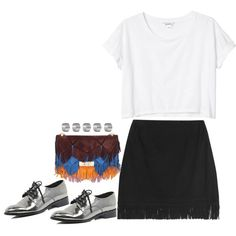 Untitled #1434 by samikayy76 on Polyvore featuring moda, Monki, Tamara Mellon, River Island, Roger Vivier and Topshop