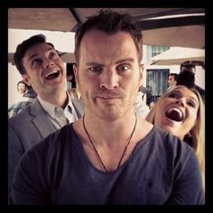 Michael McMillian Rob Kazinsky and Anna Camp EW