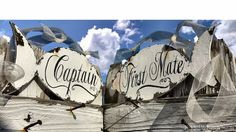 CAPTAIN and FIRST MATE Chair Hangers Fish by MyPrimitiveBoutique