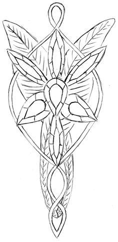 Arwen's necklace (Elessar) by Stairwaytoelle.deviantart.com on @DeviantArt