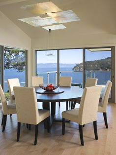 (Nice table and chairs) Contemporary Dining Room Circular Design, Pictures, Remodel, Decor and Ideas