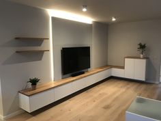 Living Room Wall Units, New Living Room, Living Room Decor, Home Room Design, Living Room Designs, House Design, Tv Unit Interior Design, Luxurious Bedrooms, House Rooms