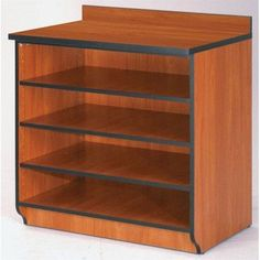 "Fleetwood Illusions 36"" Base Shelf Cabinet without Doors Size: 36"" W x 26"" D, Body Color/Trim/Top: Light Oak/Black/Light Oak"