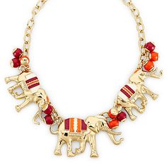 Elephant statement necklace