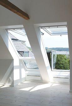 VELUX CABRIO Balcony System - Enjoy a Juliet balcony in your roof loft conversion- lighting … Loft Room, Bedroom Loft, Attic Loft, Upstairs Loft, Attic House, Attic Playroom, Bedroom Windows, Attic Renovation, Attic Remodel