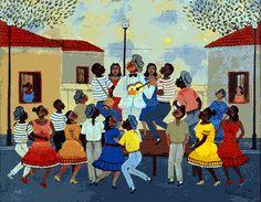 Samba, Jorge Ben, Primitive Painting, Arte Popular, Lets Dance, Naive Art, Historian, Black Art, Folk Art