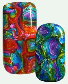 faux dichroic mokume (high light), by it's all about color--WOW