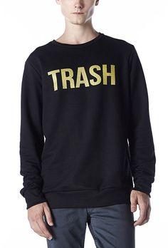Moletom Masculino Preto Trash em até 5x sem Juros | King55 - KING55 Loja de roupas