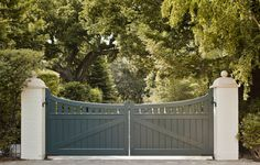 Bay Area Shingle Style - entrance gate