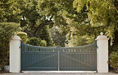 Bay Area Shingle Style  - entrance gate
