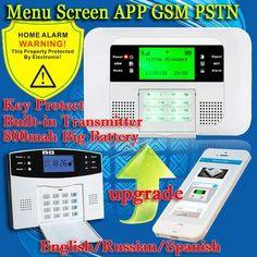 Free Shipping!Up G4B PSTN GSM English Russian Spanish Voice wireless wired LCD APP intercom Home Burglar Security alarm system