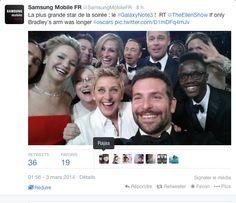 Mais Samsung ne manque pas de rappeler que la photo la plus tweeté au monde provient d'un téléphone de leur conception !