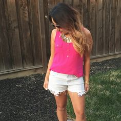 We love this hot pink top that @gverastyle found at her local TJ's!