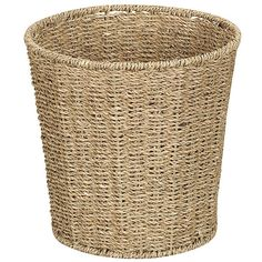 Improvements Seagrass Wastebasket ($15) ❤ liked on Polyvore featuring home, home decor, small item storage, decor, other, home accessories, trash can, seagrass wastebasket, kitchen storage and indoor storage