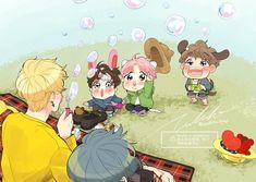 Bts Drawings, Love Drawings, Bts Bangtan Boy, Bts Jimin, Jikook, Anime Angel Girl, Bts Maknae Line, Bts Book, Vkook Fanart