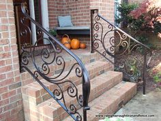 Chapel Hill Custom Wrought Iron Interior Railings - Raleigh Wrought Iron Co.