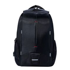 KALIDI Waterproof Men Laptop Backpack 15.6 inch Business Travel Fashion Black Notebook Backpack School Bag Mochilas Hombres