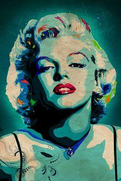 Marilyn Monroe pop art print movie by CiaranMonaghanArt on Etsy