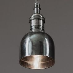 Hanging Lamp Antique Silver Finish