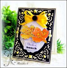 Lovely Linda's Craft Central!! @flourishesllc   #flourisheslc #fujimum #beverlycole @imaginecrafts  @SBAdhesivesby3L #paperart #diy #handmade #paperart #flowers #botanicals #garden #LovelyLinda #lindalucas #linda #embossing #sponging #sentiment #thanks #thankyou