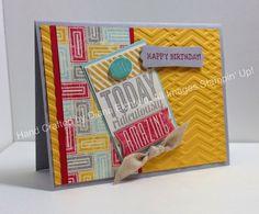 Stampin' Fun with Diana: Sketch Frenzy Friday Sketch Challenge: Amazing Birthday, Big Shot, Remembering Your Birthday, Stylin' Stampin' INKSpiration Blog, Birthday, Card, Stampin' Up, Diana Eichfeld
