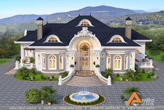 Classic House Exterior, Classic House Design, Unique House Design, House Front Design, Design Your Dream House, Dream House Exterior, Luxury Homes Dream Houses, Luxury House Plans, Dream House Plans