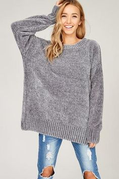 Viviana Sweater - Silver Grey (PRE-ORDER) – Bungalow 123
