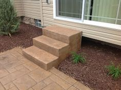 These are a set of rectangular stairs in Cleveland, OH.